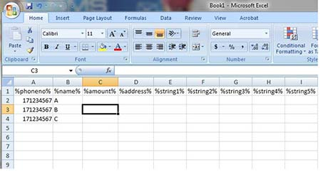 Create CSV File Using Microsoft Excel in iSMS Australia